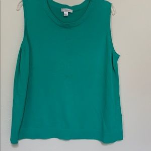Green Sweater Tank Top